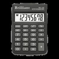 Калькулятор кишеньковий Brilliant BS-100, 8 розрядів