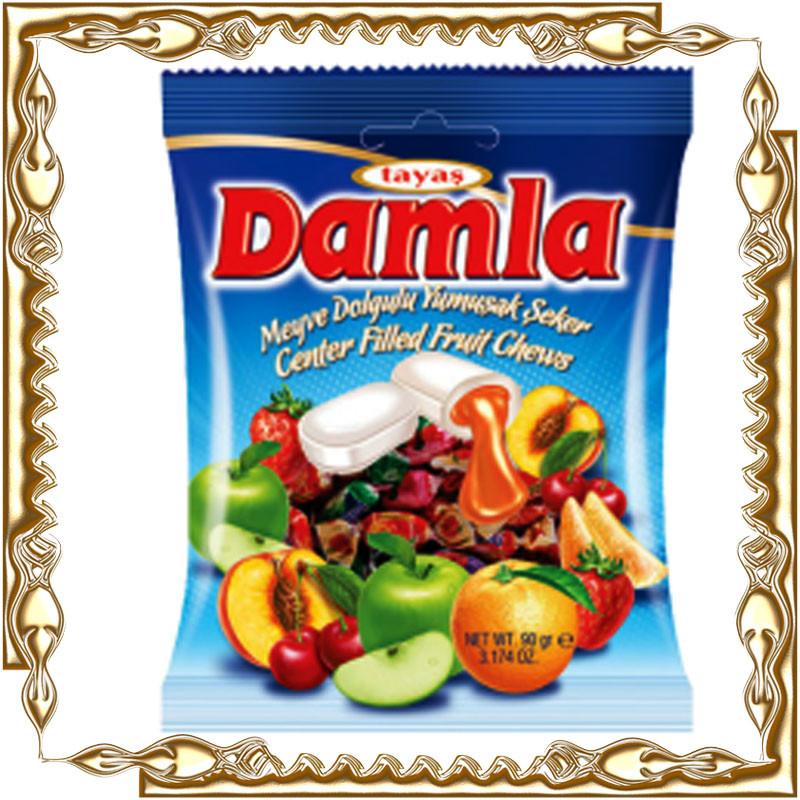 Цукерки DAMLA з рідкої фрукт. начинкою 1000 гр.
