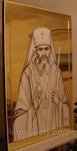 Золочение сусальным золотом икон Святого Иоанна Шанхайского. - фото 2