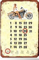 Вечные металлические календари с магнитным курсором