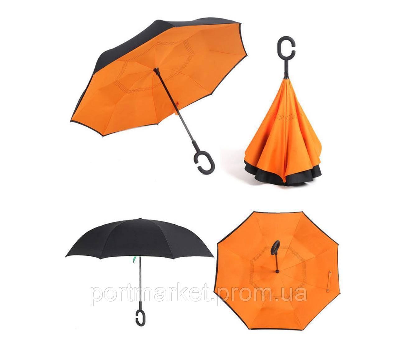 Зонт наоборот UnBrella. Антизонт зонтик обратного сложения.
