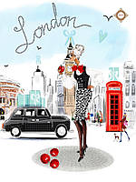"Схема для вышивки бисером ""Shopping in London"""