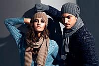 Модные вязаные шапки сезона осень - зима 2017-2018 г.