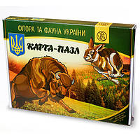 Карта - пазл «Флора и Фауна Украины» | Uteria | Развивающий пазл , фото 1