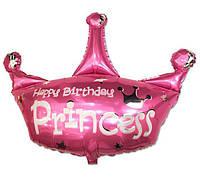 Фольгированный шар Корона Принцесса 37х30см