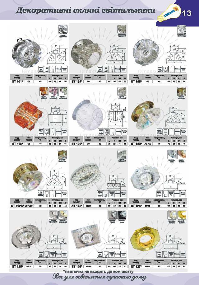 Декоративные точечные светильники купить в Киеве.
