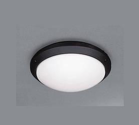 Світлодіодний світильник для ЖКГ Lemanso LM938 накладної 7W 4000K круглий чорний IP54 Код.57650
