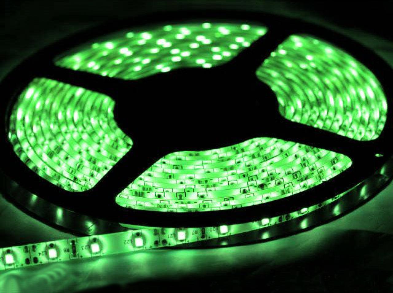 Светодиодная лента SMD 3528/120 12V зеленая IP20 Код.52402