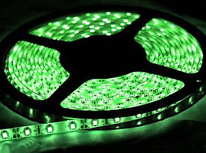Світлодіодна стрічка SMD 3528/120 12V зелена IP20 Код.52402