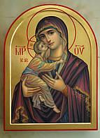 Золочение сусальным золотом икон Пресвятой Богородицы.