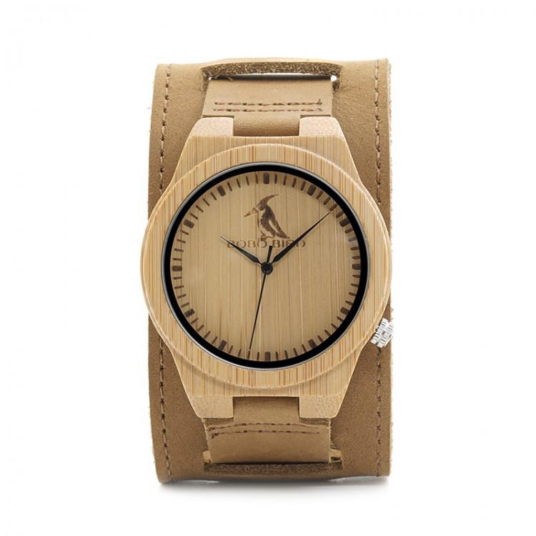 Часы деревянные мужские Bobo Bird Decus