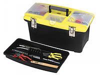"""Ящик для инструмента STANLEY 16"""" пластмассовый 2 органайзера металлические замки 394х254х178 мм"""