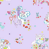 Unicorn and Castles Lilac