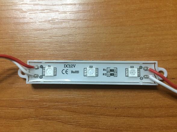 Світлодіодний модуль SMD 5050 3 світлодіода 120* червоний IP67 Код.58077