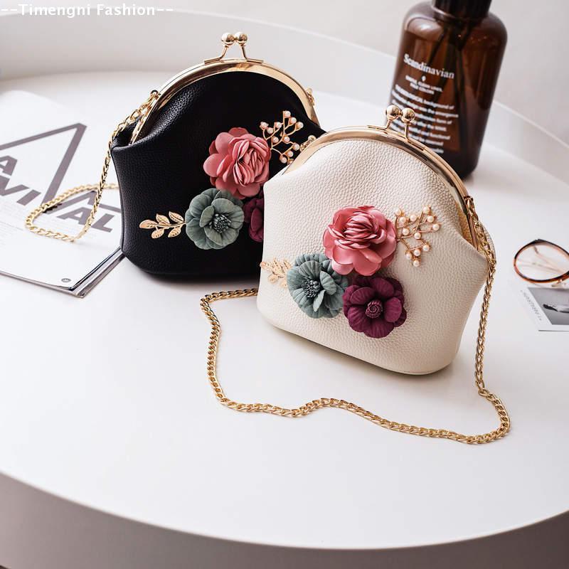 Мини сумочка с цветами