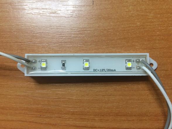 Светодиодный модуль SMD 3528-3СW 120* холодный белый IP65 Код.57615