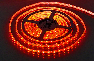 Світлодіодна стрічка SMD 3528/120 12V червона ІР20Код.52403