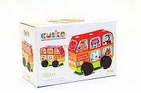 """Бесплатная доставка. Детский деревянный конструктор Автобус """"Весёлые звери"""" Cubika(Кубика) 13197."""