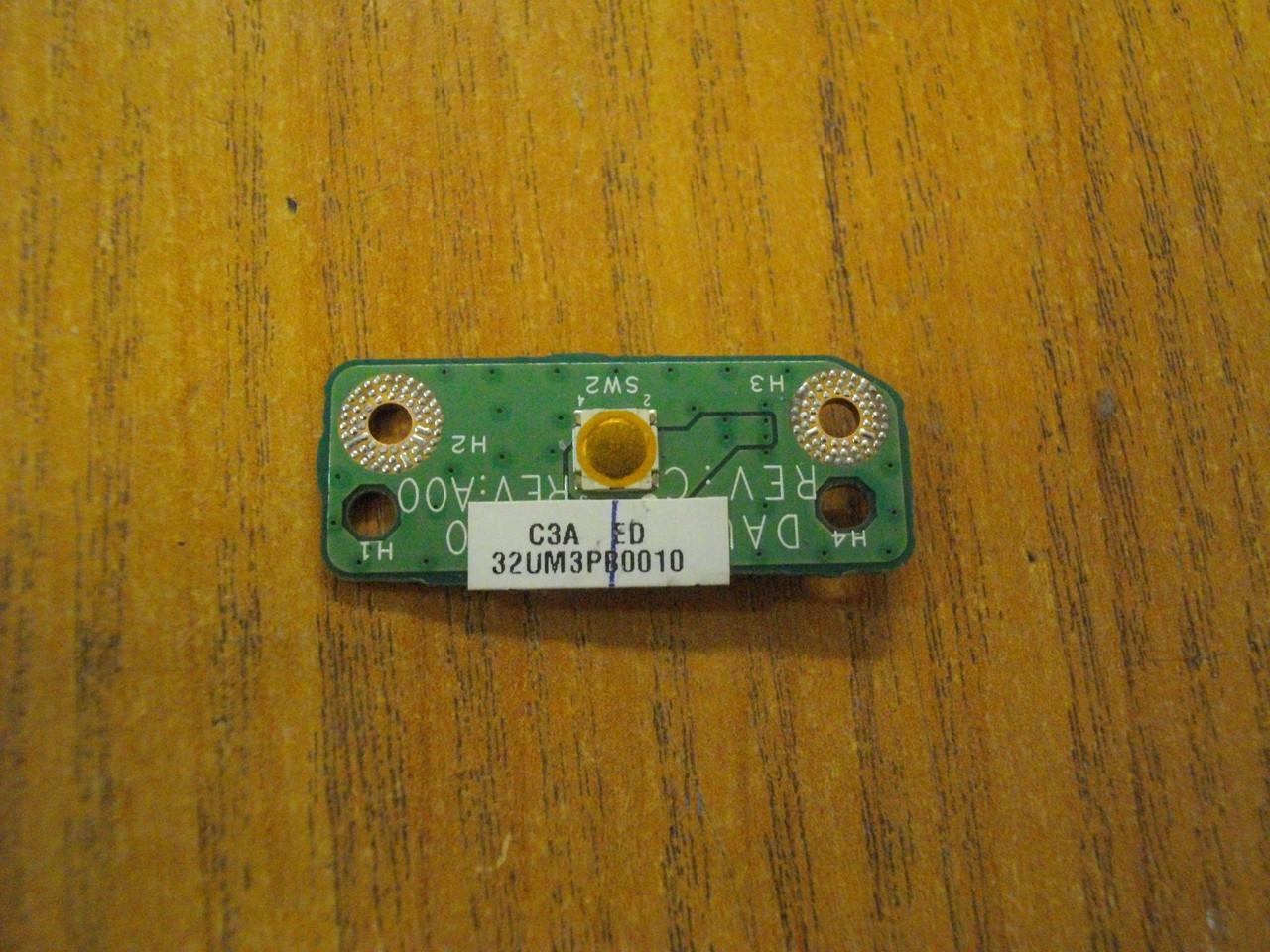 Плата с кнопкой включения DAUM3BPB6C0 Dell Inspiron 1764