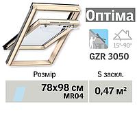 Мансардне вікно VELUX Оптіма (верхня ручка, 78*98 см)