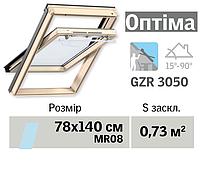 Мансардне вікно VELUX Оптіма (верхня ручка, 78*140 см)