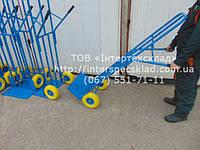 Тележки тачки двухколёсные складские нагрузка 300кг, высота 1700мм. ТД-6 колеса пенополиуретан