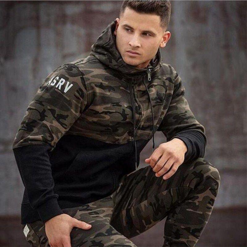 Новые модные мужские толстовки-(Камуфляж) для мужчин.