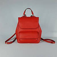 Женский рюкзак, натуральная кожа, ручная работа 23*20см.