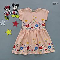"""Летнее платье """"Цветы"""" для девочки. 86-92 см, фото 1"""