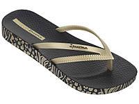 Женские летние вьетнамки Ipanema Bossa Soft  II Black/Gold 82282-21117