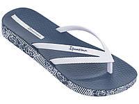 Женские летние вьетнамки Ipanema Bossa Soft  II Blue/White 82282-22412
