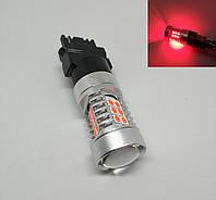 Автолампа LED, T25, P27W, 3156, 12V,22 SMD 3030, Красная, фото 1