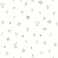 Butterfly Garden Cream_Heather