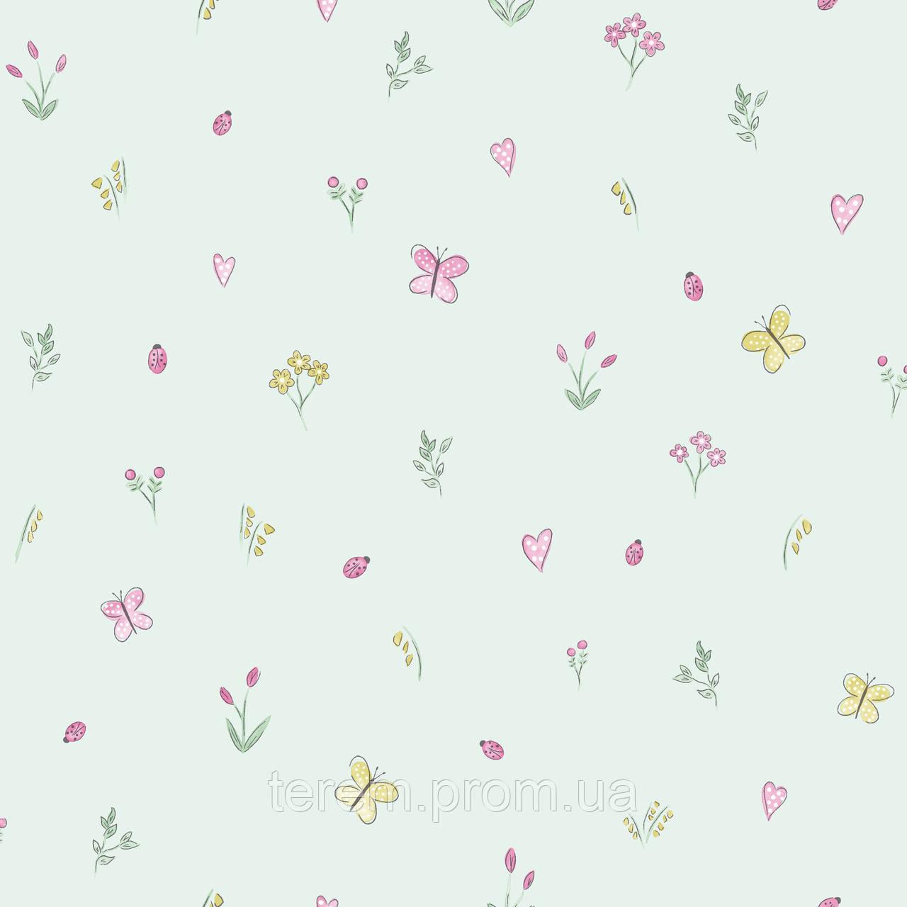 Butterfly Garden Soft Teal