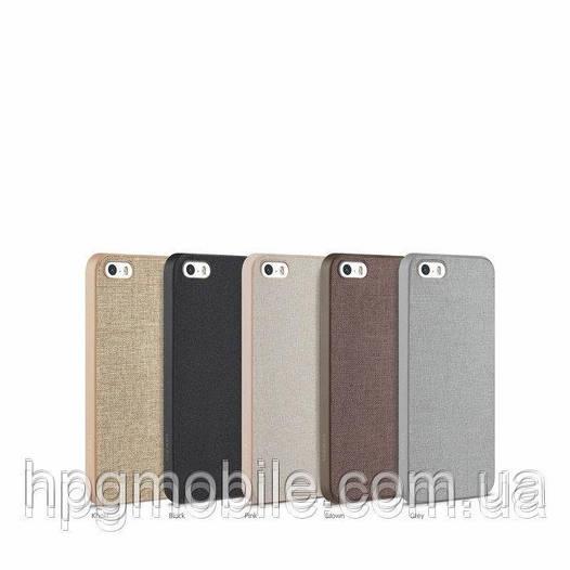 Чехол iPhone 5/5s - Ozaki O!coat 0.3+Canvas (пленка в комплекте)
