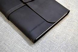 Софтбук с кожаной обложкой и лазерной гравировкой