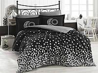 Комплект постельного белья  Hobby поплин размер евро Stars серый