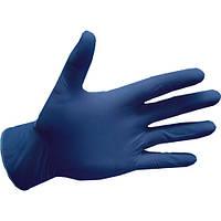 Рукавички нітрилові, сині Fiomex, premium - 100 шт/уп, S