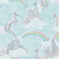 I believe in unicorns Soft Teal