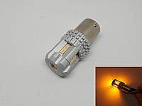 Автолампа BT LED, PY21W, BAU15S, 12 SMD 2030, 9-16V, Желтая
