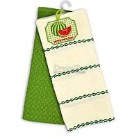 """Набор вафельных полотенец Home Line """"Кавун"""" белый-зеленый 45х70 см 2 шт (134489)"""