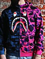 Худи Bape Full Zip purp/pink | Толстовка с оригинальной биркой в оригинальном пакете, фото 1