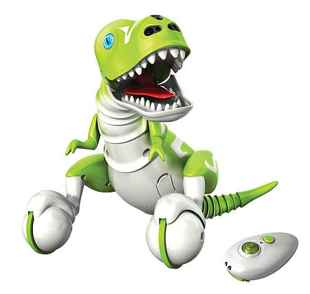 Интерактивный Робот-Динозавр Зумер Зеленый Zoomer Interactive Dino Boomer Green, фото 2