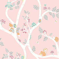 Woodland Adventure Dusky Pink