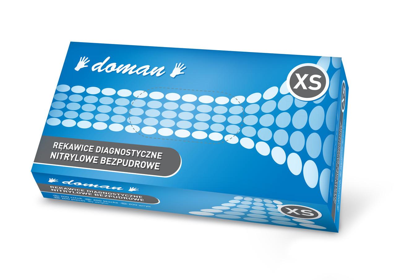 Рукавички нітрилові, DOMAN - 100 шт/уп, XS