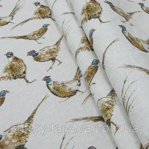 Декоративная ткань для штор, фазан