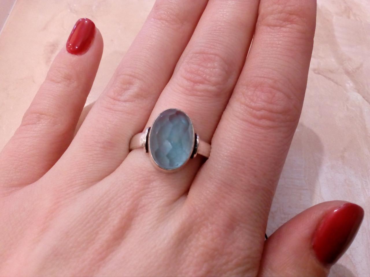 Красивое кольцо с кварц-топазом в серебре. Кольцо кварц-топаз 19,5 размер Индия!