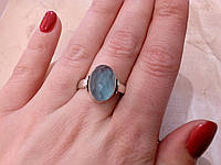 Красивое кольцо с кварц-топазом в серебре. Кольцо с камнем кварц-топаз., фото 1