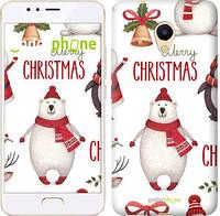 "Чехол на Meizu M5s Merry Christmas ""4106u-776-571"""