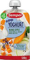 Пюре Semper Йогуртовое смузи с манго и яблоком 120 г